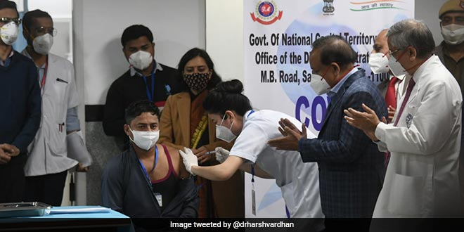 Vaccine Will Work As 'Sanjeevani' Against COVID-19, Says Union Health Minister As Vaccination Gets Underway At AIIMS, Delhi