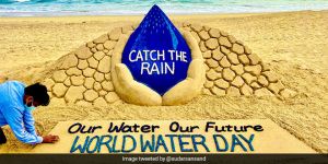 World Water Day 2021: Sand Artist Sudarsan Pattnaik Asks To 'Catch The Rain' For The Future