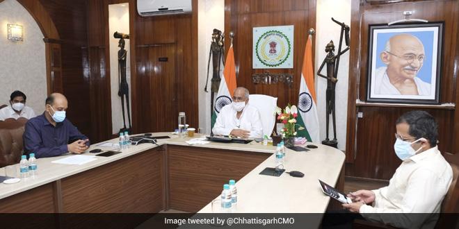Chhattisgarh CM Inaugurates 'CGTeeka' Web Portal For Convenient COVID Vaccination Registration Process