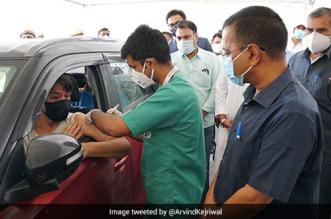 Delhi Gets First Drive-Through COVID-19 Vaccination Centre At Vegas Mall, Dwarka