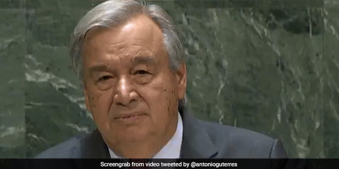 UN Chief Calls For A Global Partnership To Address COVID-19, Climate Change And Achieve Sustainable Development Goals
