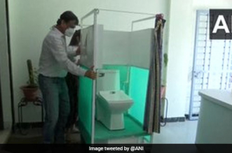 National Institute Of Fashion Technology Student From Bhopal Designs A Movable Toilet For COVID Patients