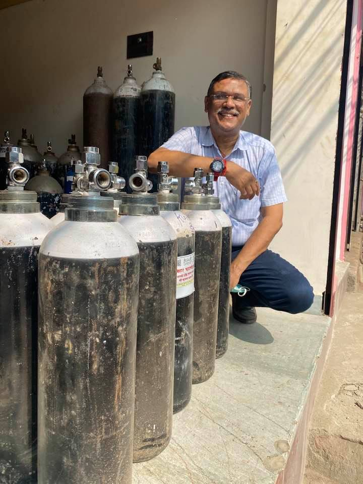 51-year-old Gaurav Rai, a resident of Patna, Bihar is now fondly known as 'Oxygen Man'