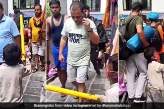 """""""Where Is Your Mask"""", With A Stick In Hand, A Young Boy Calls Out People For Not Following COVID-19 Appropriate Behaviour In Dharamshala"""