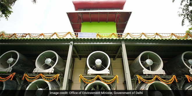 In The Fight Against Air Pollution, Delhi Government Installs A Smog Tower At Connaught Place