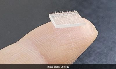 The vaccine technology uses 3D-printed microneedles lined up on a polymer patch