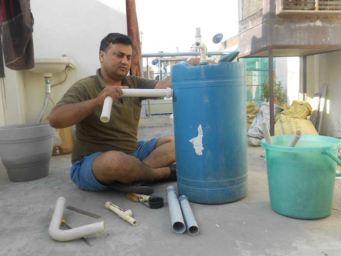 Constructing-own-Biogas-plant-at-terrace jpg - Mission