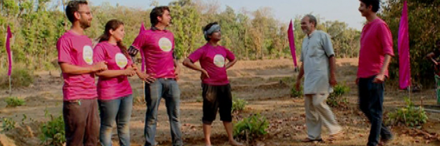 Green Challengers Planting Trees in the Forest